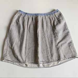 Anthro Corey Lynn Calter Striped Cotton Skirt Med